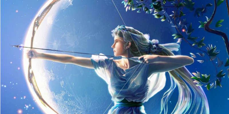 Diosa de la luna Diana