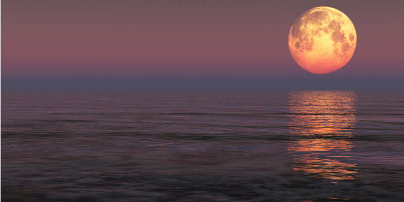 La luna influye poderosamente sobre las mareas